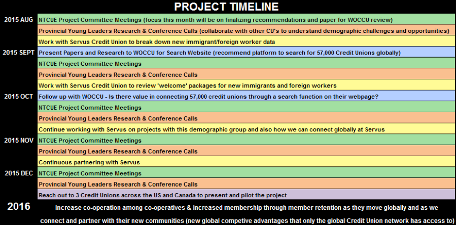 NTCUE Project Timeline