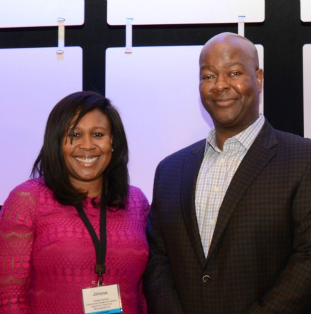 2015 Winner Jimese Harkley pictured with CUES President/CEO, John Pembroke