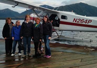 2016 TFCU VITA Tax volunteers and our air 'taxi' to Metlakatla, AK