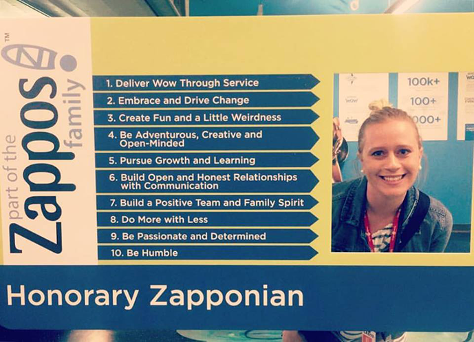 May 2017: I took the Zappos culture tour and become an honorary Zapponian!