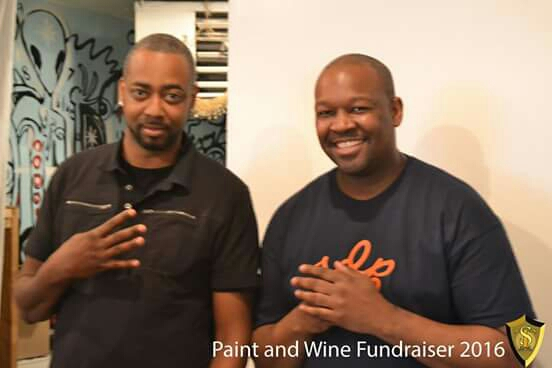 Members of Shatown Entertainment, left to right: music artist/producer/writer-Mr. Sha and Dj Mike Major.