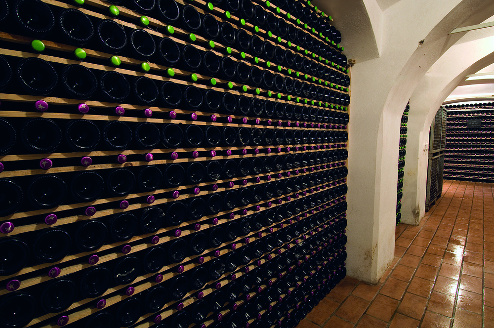 Archive wines at the Istenič winery
