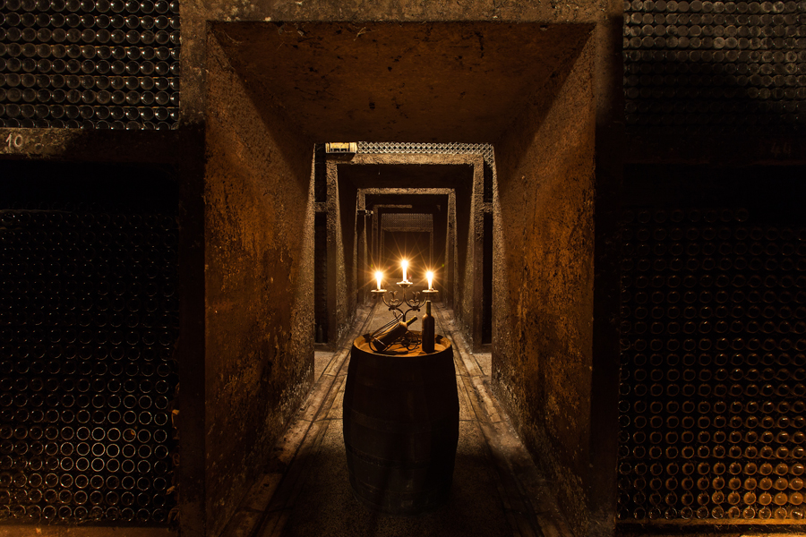 The cellar at the country's largest producer
