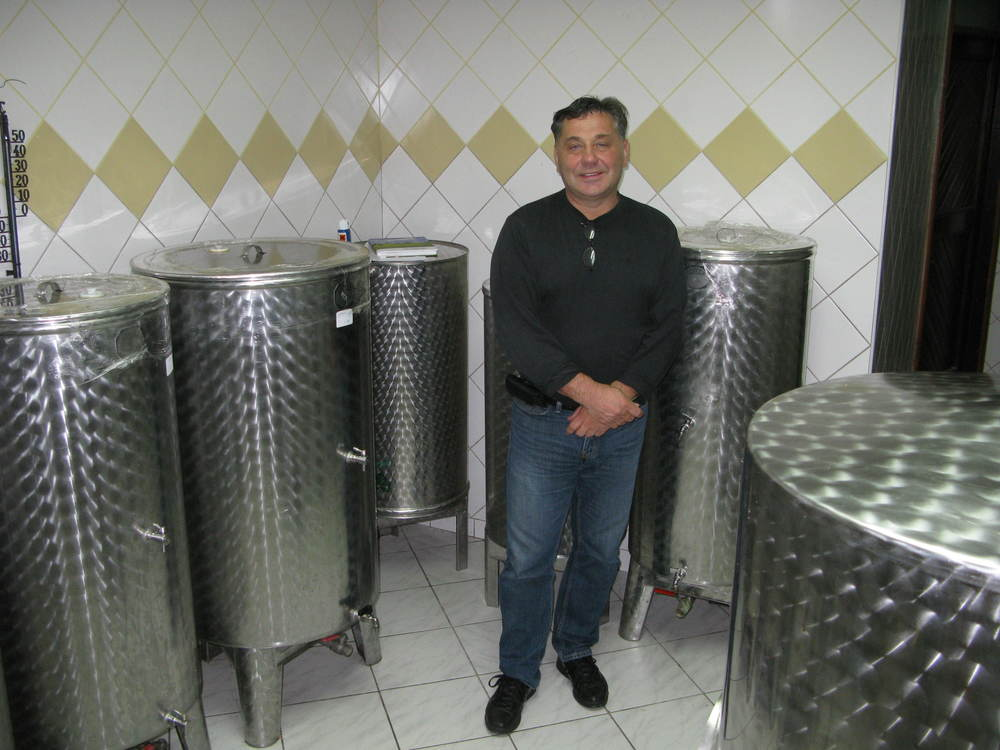 Boris in his current winery, part of his home. There aren't many advantages for making ice wine - except you don't need a very big winery as the annual output is tiny
