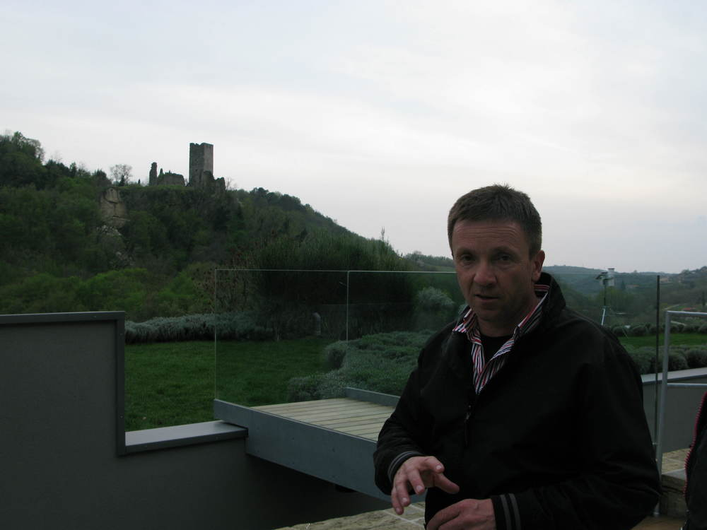 Franco Kozlović on the roof of the family winery