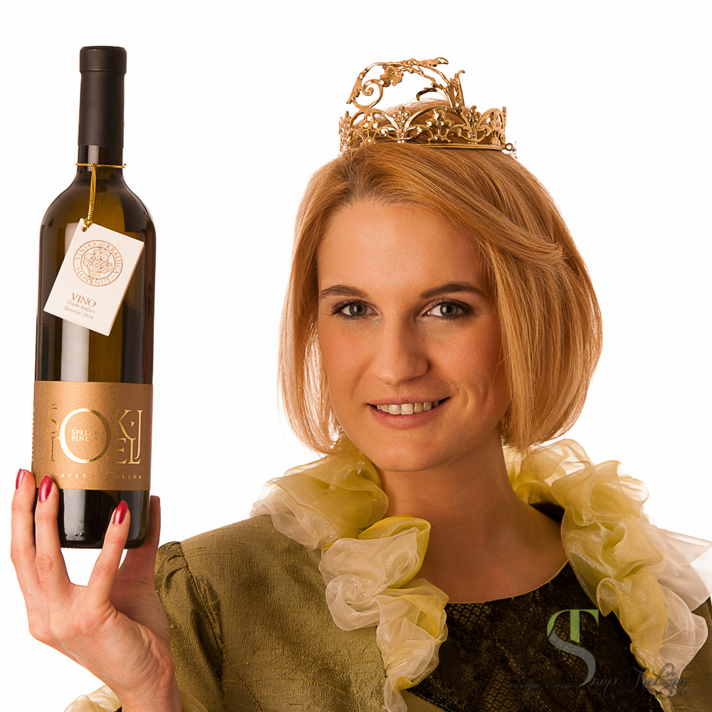Špela Štokelj promoted Pinela during her reign as Slovenia's wine queen