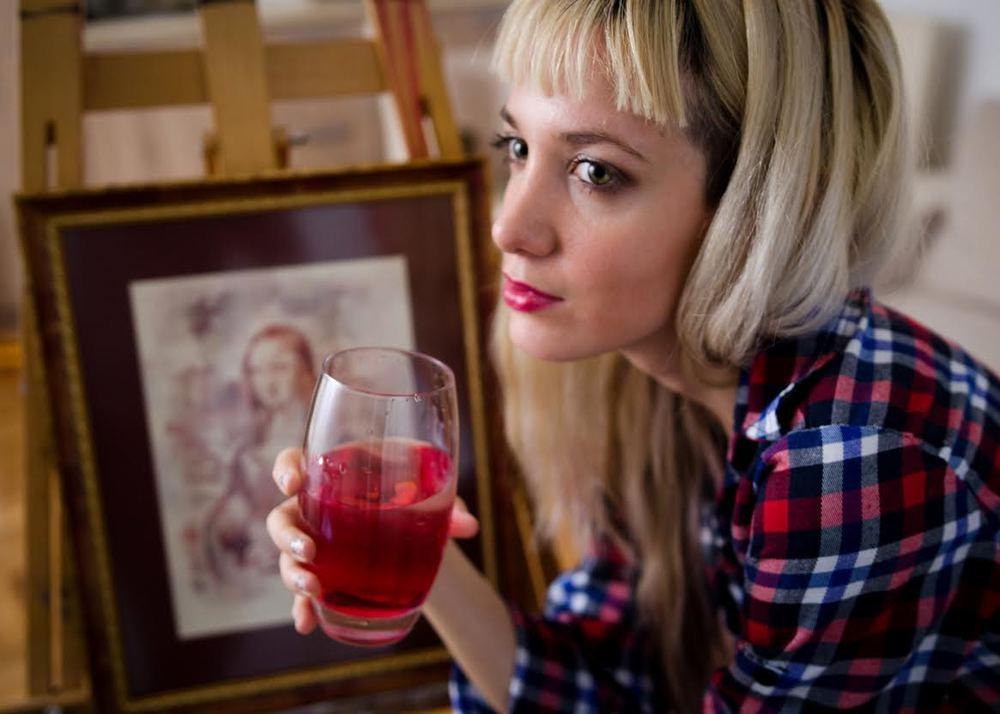Sanja in her studio