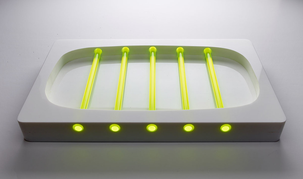 Glow 37x22x4cm Perspex and Fluorescent Rods,Table top