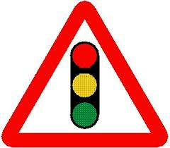 Traffic light road sign