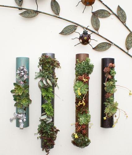 Plant Cylinders Garden Art