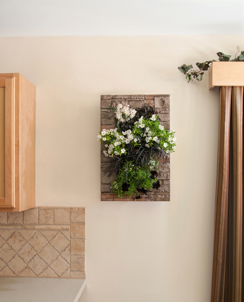 GroVert Living Wall Planter with Stone Frame
