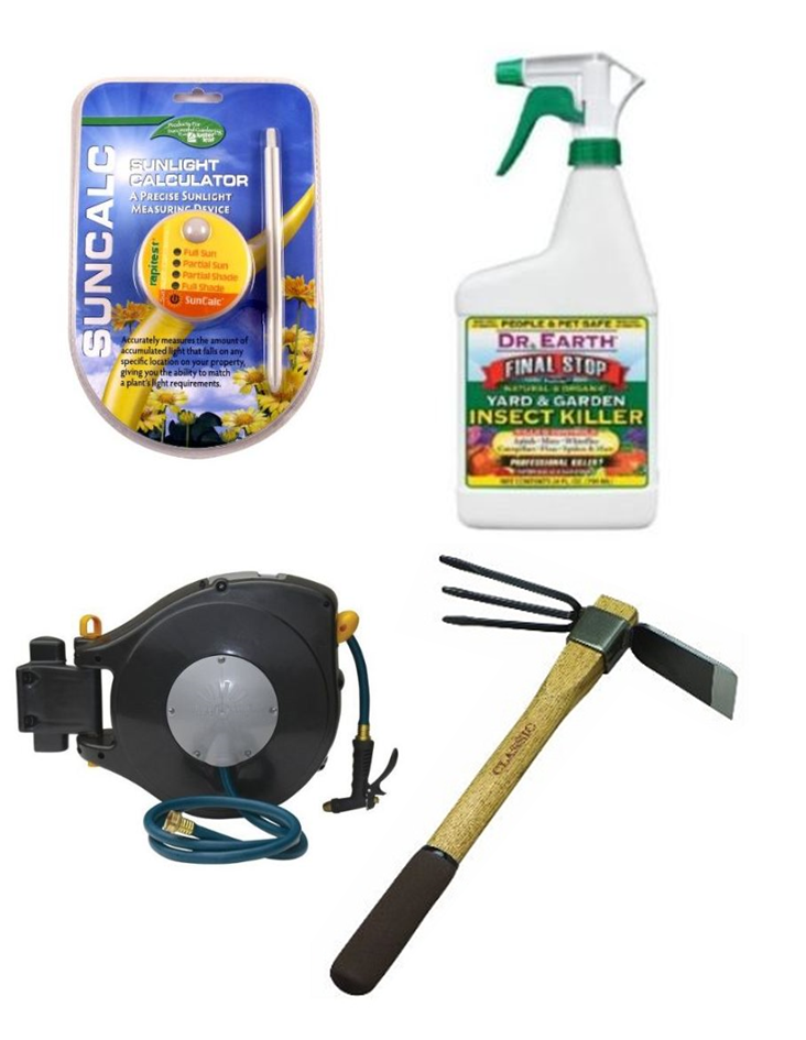 Pest Control, Watering Equipment, Gardening Tools, Grow Lights, Fertilizer, Etc