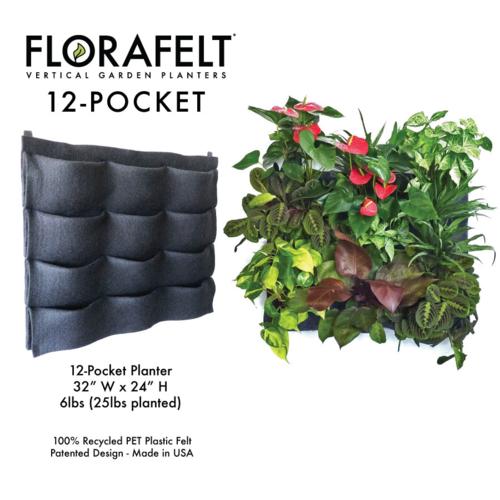 FloraFelt 12-Pocket Vertical Garden Planter — Edible Walls
