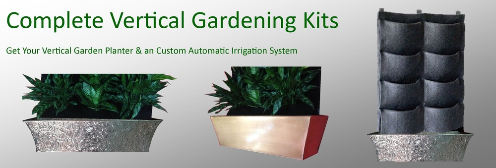 Indoor Vertical Garden Kit : Indoor Vertical Garden Kit : Vertical Wall Garden Kits