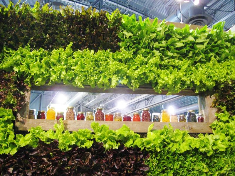 Living Lettuce Wall at the Philadelphia Flower Show 2012