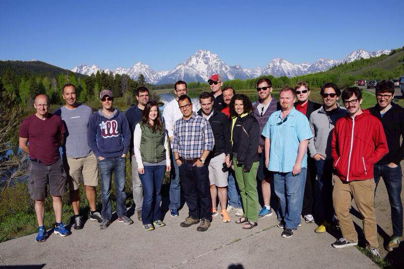 PipelineDeals team in Grand Teton National Park in June 2014