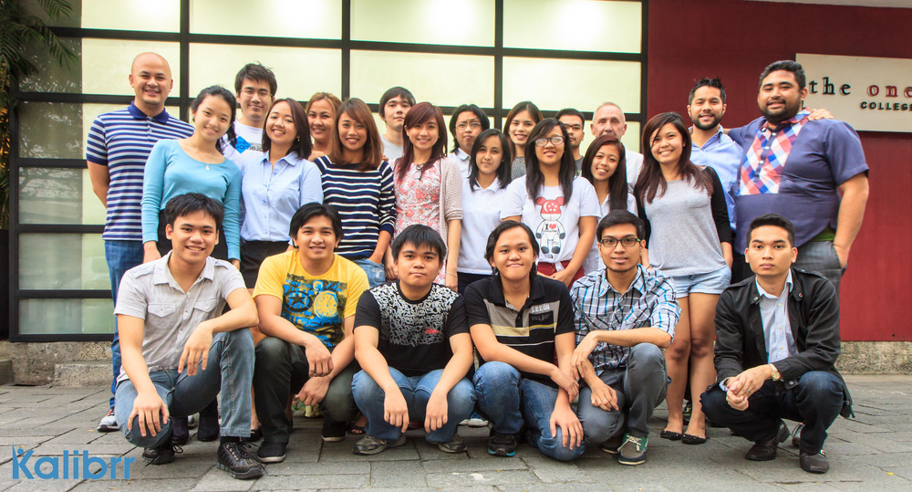 The Kalibrr team posing near their HQ