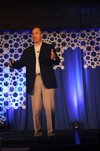 JP Werlin gives the opening keynote speech at Accelerate Sales.