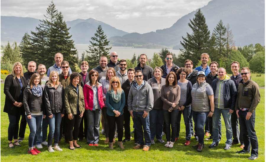 PipelineDeals Team Celebrates Together Outside Portland, OR