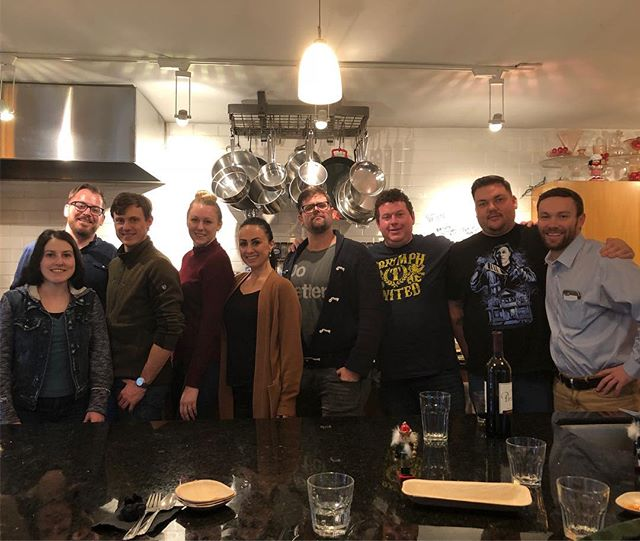 Sales and marketing team outing @dianesmarketkitchen - great way to celebrate the end of the year and kickoff 2018!