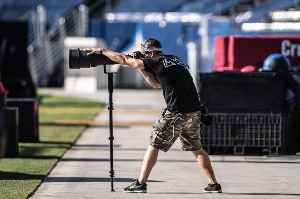 Shooting with the Nikon 600 F/4 at the 2016 CrossFit Games, image credit Jason Morrison (@dubtastic)