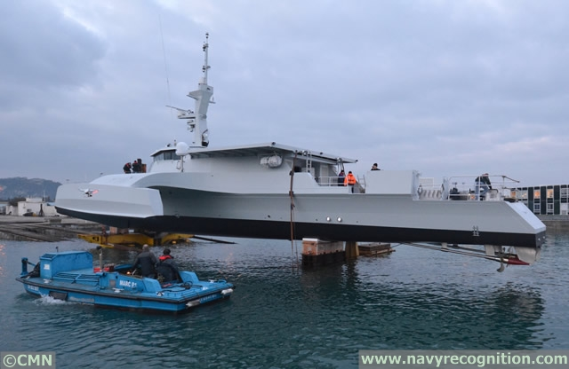 A patrol boat leaving France for EMATUM in Mozambique