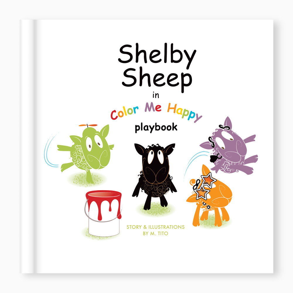 Shelby Sheep  in Color me Happy . Playbook