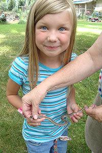 Taci with snake.