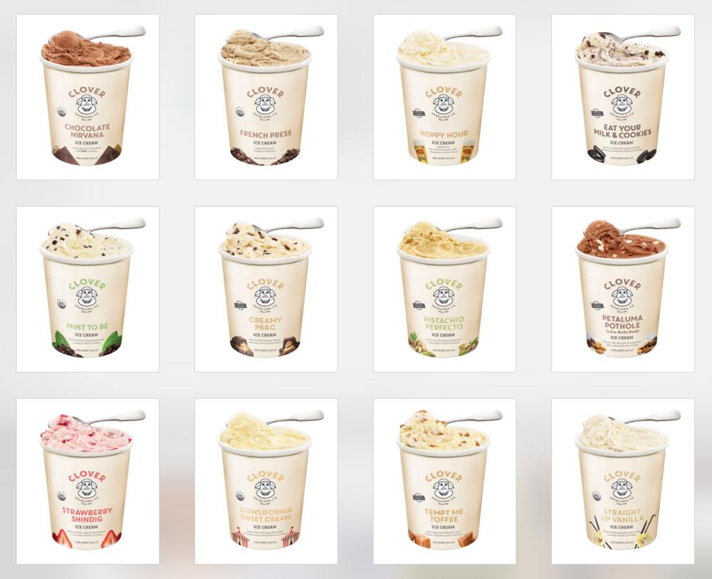 Clover Stornetta - 12 flavors