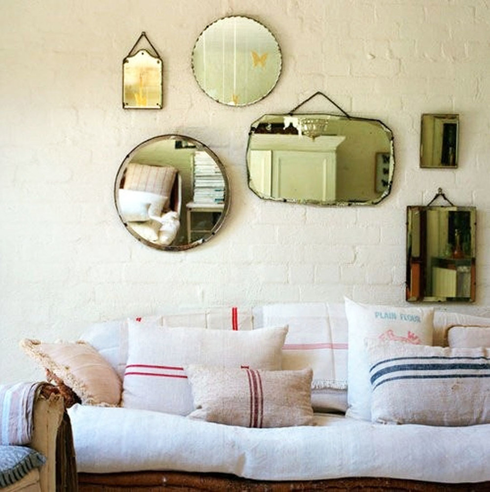 Small collection of rustic mirrors