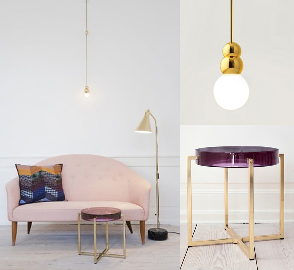 Ball light byMichael Anastassiades and side table byMcCollin Bryan