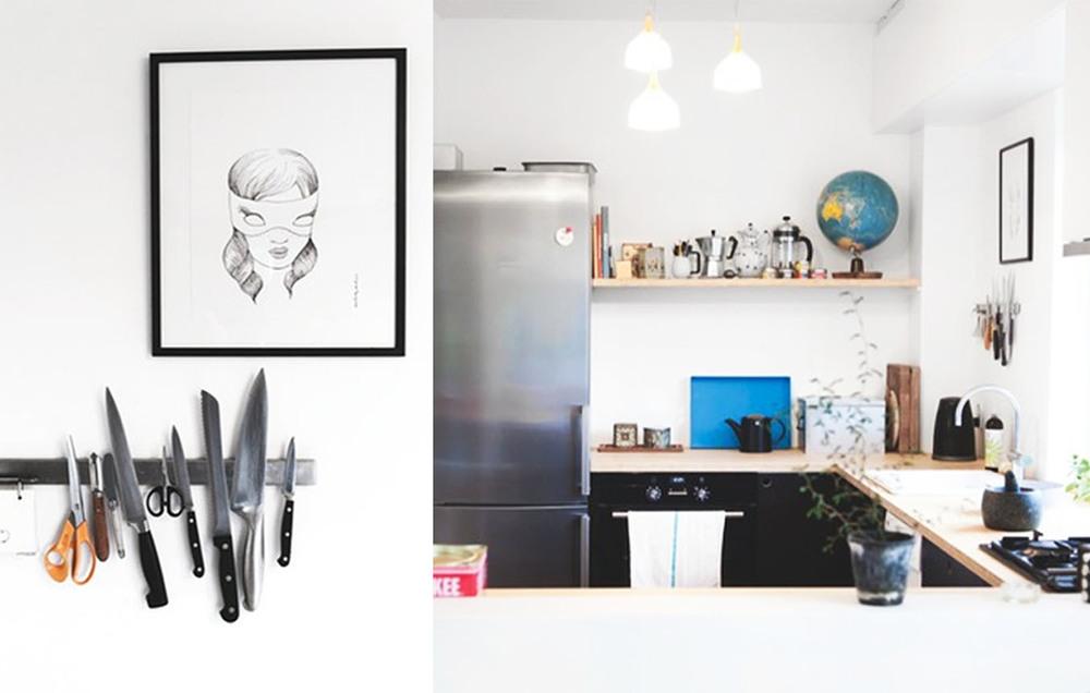 """""""Mask"""" artwork (Left above knifes)"""