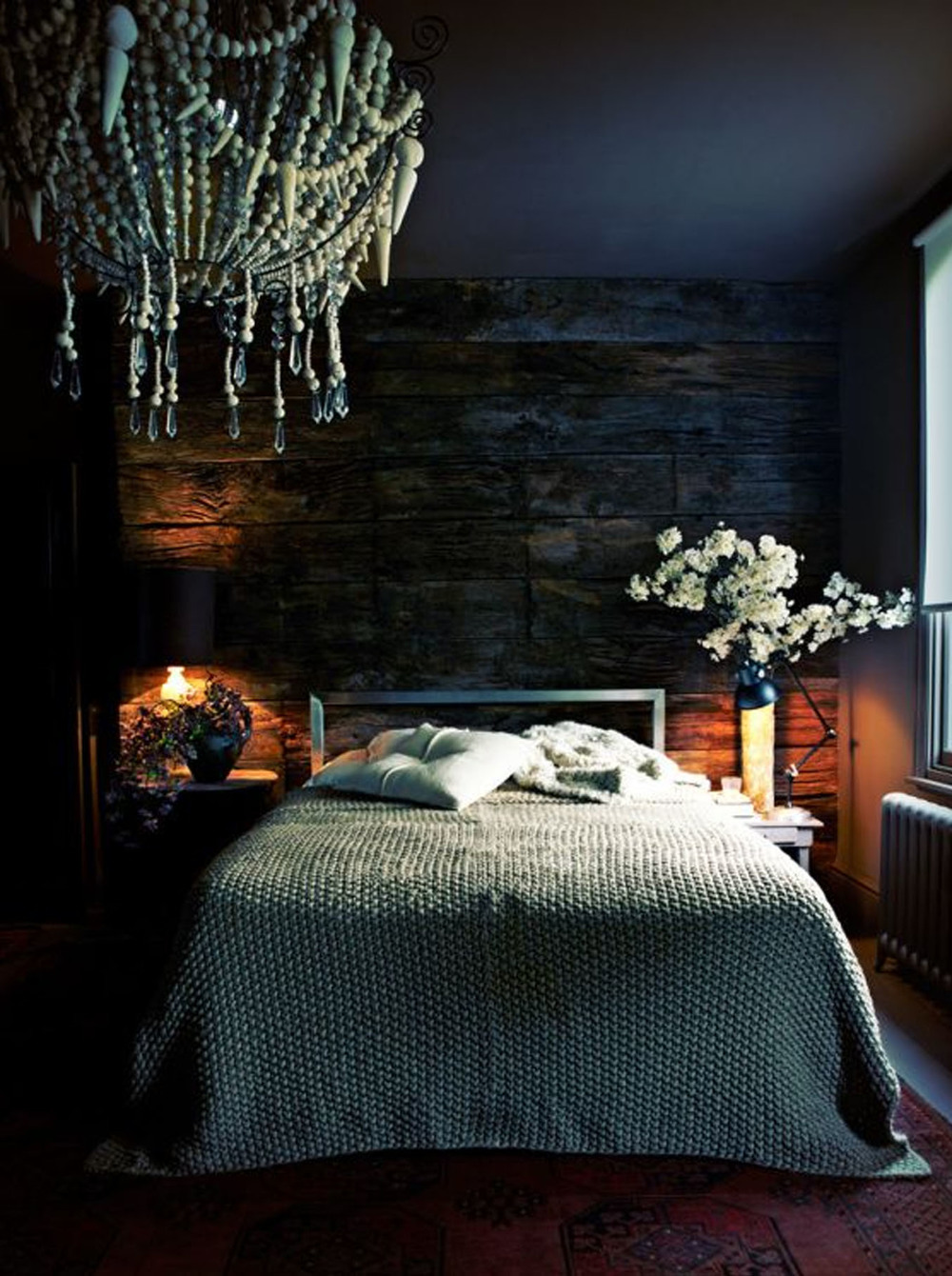 The bedroom of Abigail Ahern, the queen of dark interiors!