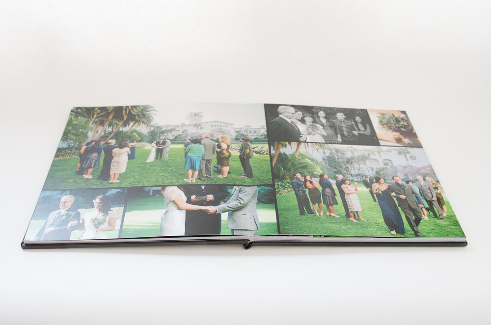 Each page is custom designed in the placement, layout, and choice of photos per page.