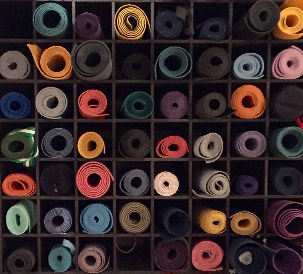 Espace de rangement pour tapis