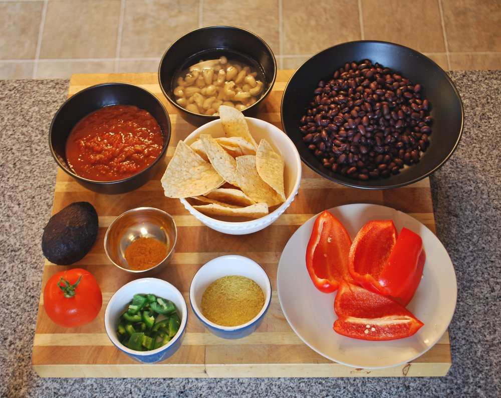 Vegan Nachos ingredients