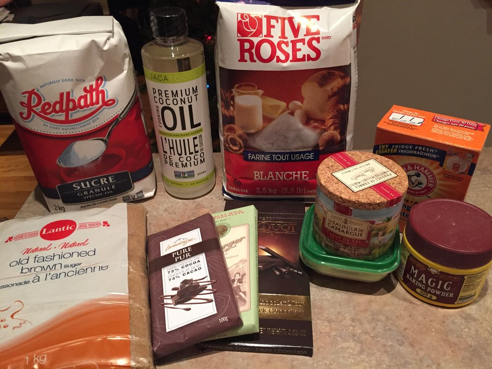Vegan Salted Chocolate Chip ingredients