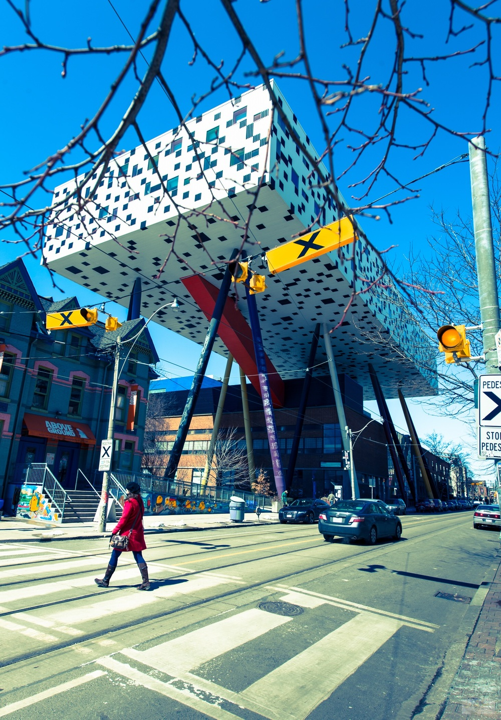 OCAD U with pedestrian crossing