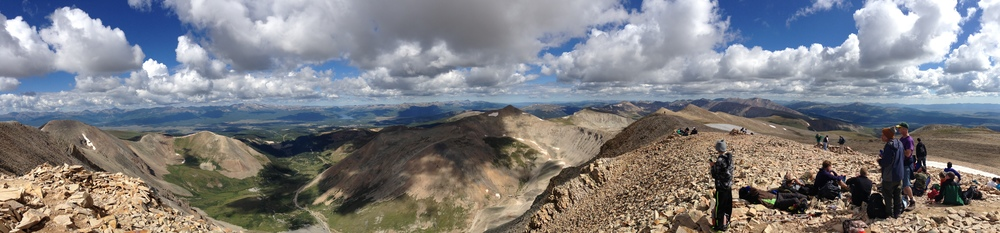 The view from the summit of Mt. Sherman (14,036 ft.)
