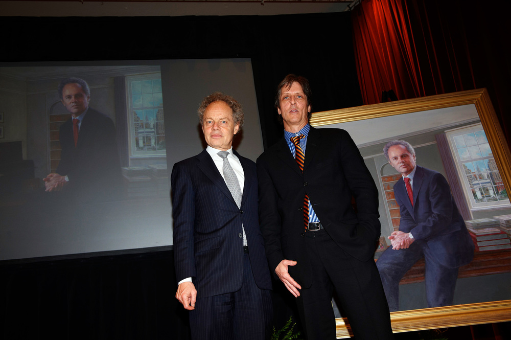 Dean Richard Revesz and artist Daniel Duffy