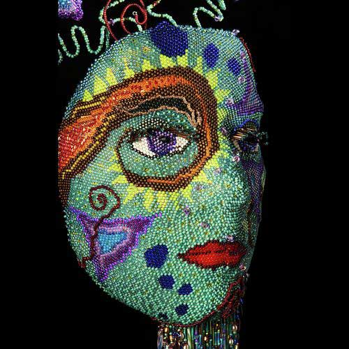 Bead Mask by Wendy Seaward