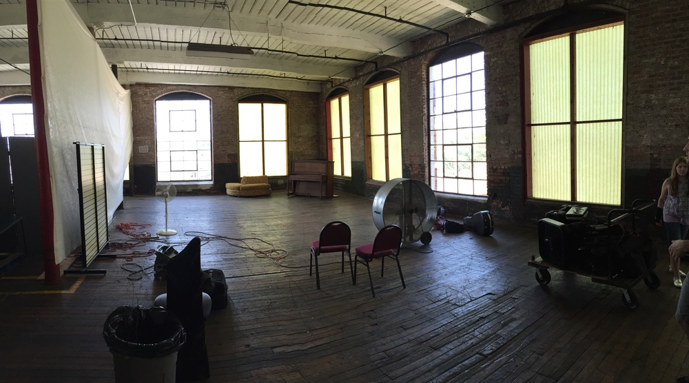 The room we rented out at Lowe Mill. Note the large fan because this floor isn't cooled, not sure about heated.