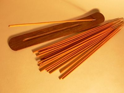 Incense sticks flat
