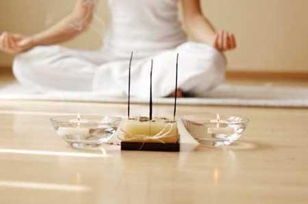 incense and meditation