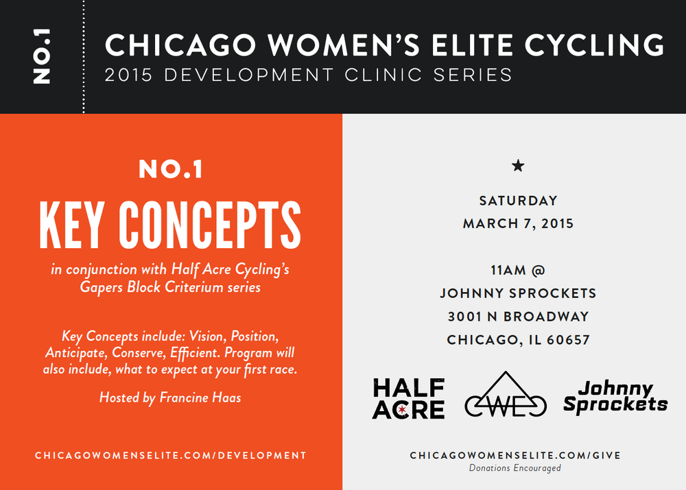 Thanks to our co-host  Chicago Women's Elite Cycling  for the flyer!