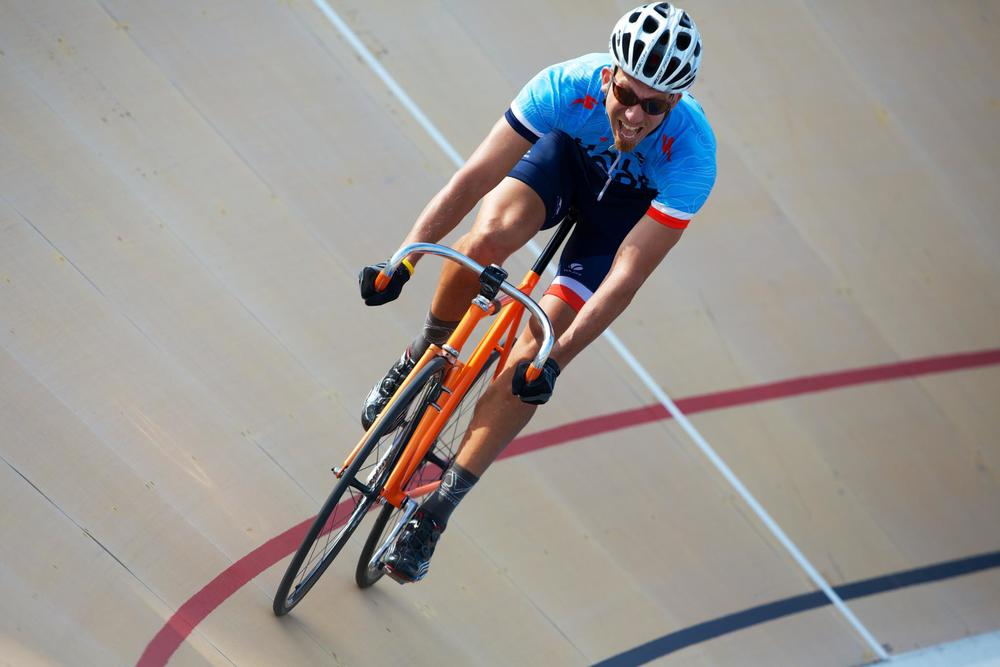 crushing it at the velodrome