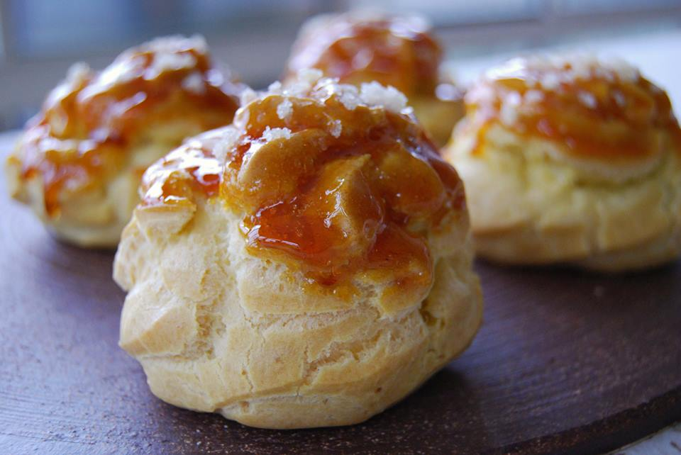 ginger caramel cream puff