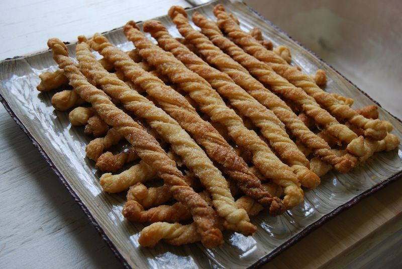 candied ginger twists