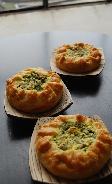 spinach, feta, herb pie