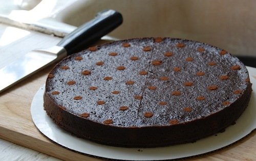 chocolate bourbon truffle torte
